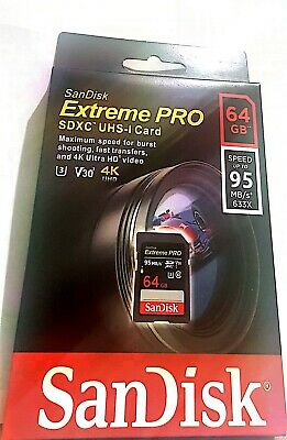 SanDisk SDSDXXG-064G-GN4IN Extreme Pro 64 GB Class 10 SDXC Memory Card