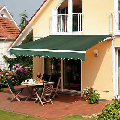 Outsunny 3 x 2.5m Door Awning Canopy Shelter Outdoor Patio Sun Rain Shade Cover