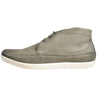 Base London Venue Men's Leather Chukka Ankle Boots Grey (Sample) UK 8 Only