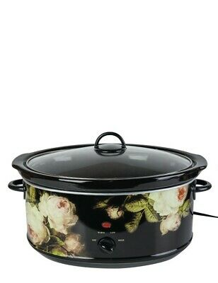 Victorian Trading Co Blooming Roses Slow Cooker Crockpot