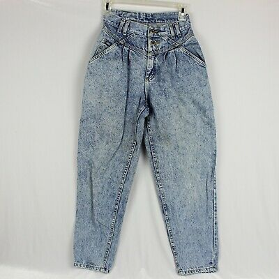 9d2b2e51 Vintage Lee Acid Wash Mom Jean High Waist Women 8 Petite 2 Button Zip Fly  25X27