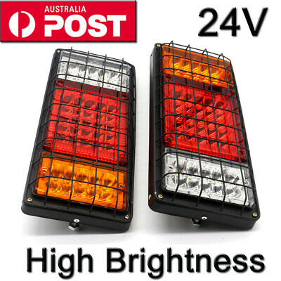 New 2 LED Tail Lights 24V Brake Reverse 40LED Trailer Truck UTE Caravan PAIR OZ