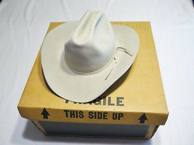 Resistol Self Conforming 7X Beaver Western Cowboy Hat - Size 6 7 8 Long Oval 39a80d484bf2