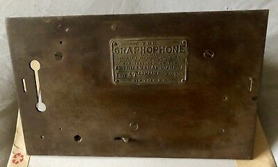 Antique GRAPHOPHONE Bedplate COLUMBIA Cylinder Phonograph