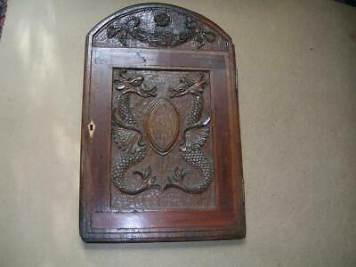 18th century inlaid oak door. Long case clock?