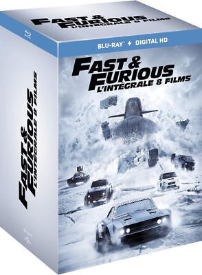 Blu-ray FAST AND FURIOUS Intégrale des 8 films, coffret NEUF - FRANCE