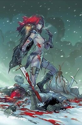 RED SONJA #1 Mirka Andolfo Virgin Variant Cover NM 1st Print   LIMITED TO 500