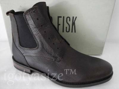 61cb40dd617 JD FISK MATHERS Brown Leather Slip-On Chelsea Boots (Size 10)