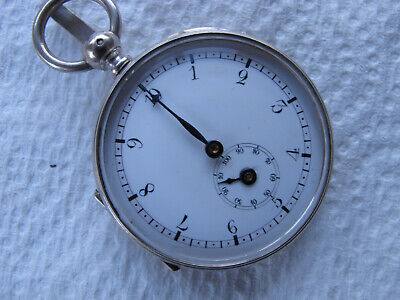 SOLID SILVER PEDOMETER POCKET WATCH FORM CASED c1890-1910 Perfect on a D/Albert
