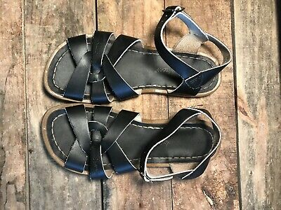 f74c43380d14 SALT WATER SANDALS by Hoy Brown Leather Shoes Size Women s 6 Big Kid ...