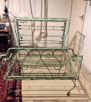 victorian french cast iron folding bed on wheels