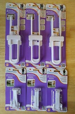 Dreambaby Sliding Locks & Safety Catches - 6 Packs - Baby Proof Your Home