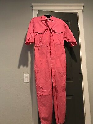 Lot Of 2 Vintage Avon Fashions Jumpsuits Hot pink and Turquoise Size Small