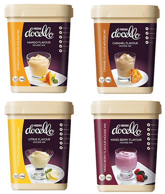 Nestle Docello Exotic Mousse Variety Mix 1.9Kg