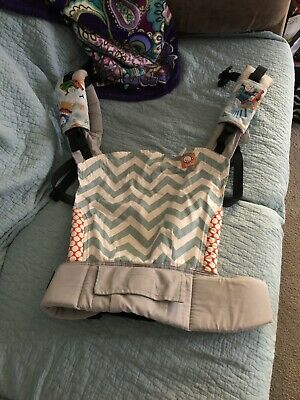 f0438e0bedf TULA INFANT BABY Carrier Standard Ergonomic Gray Yellow Pink BARELY ...