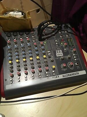 Allen and Heath ZED-10FX USB Compact Stereo Mixer