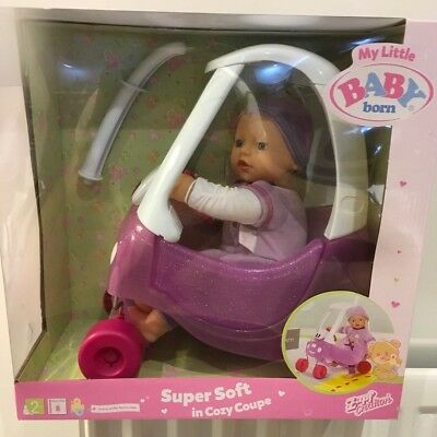 Zapf Creation My Little Baby Born Super Soft Doll In Cozy Coupe