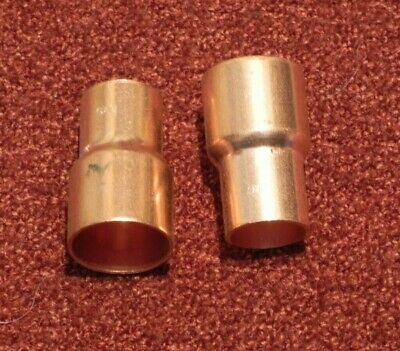"NIBCO 1-1/4"" x 1"" COPPER BELL REDUCER SWEAT SOLDER NEW FITTING (LOT OF 2)"