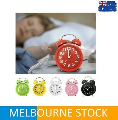 Twin Bell Alarm Clock Loud Clocks Vintage Retro Battery Bedside Analogue