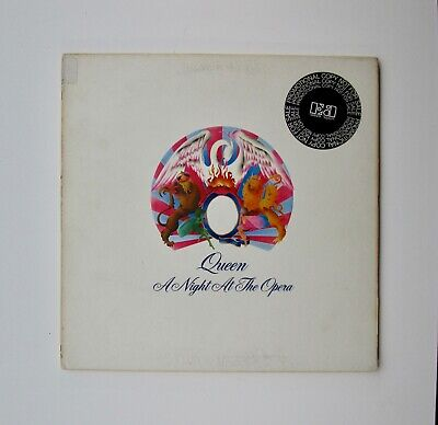 Queen ‎– A Night At The Opera, White Label Promo LP VG+ 1975