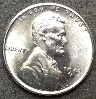 *1943 S* Uncirculated BU Steel Lincoln Wheat Cent Penny X111 *Free Ship*