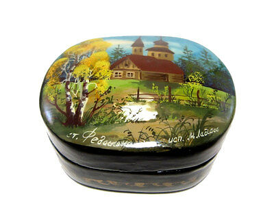 """Extremely Rare Vintage Lacquer """"fedoskino"""" Russian Box *old Church*!!!"""