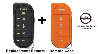 Viper 7856V 2 Way LED Remote Transmitter w/ Orange Colored Cover 87856VO