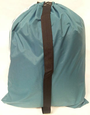 ***25 HEAVY DUTY 30x40 NYLON LAUNDRY BAGS with SHOULDER STRAP - 10 COLORS***