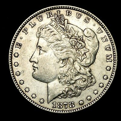 1878 P ~**ABOUT UNCIRCULATED AU**~ Silver Morgan Dollar Rare US Old Coin! #581