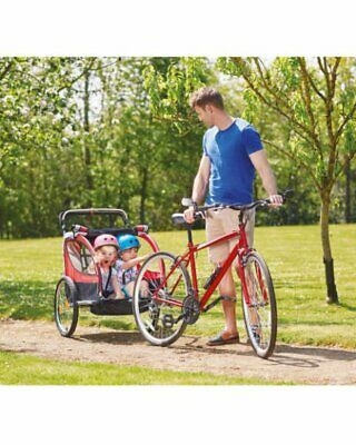 KIDS BIKE TRAILER - GREAT FOR 2 KIDS - with CANOPY/INSECT SCREEN-LOADS OF FUN!!!