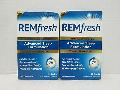 Discount 5 Boxs Remfresh Advanced Sleep Formulation 36 Caplets Each Read 12/2018