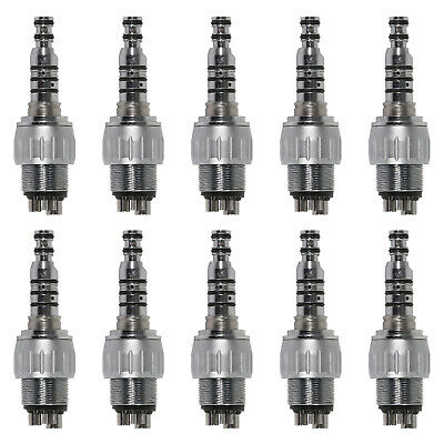 10pcs 4-Hole Dental Quick Coupler Coupling fit Kavo High Speed Handpiece