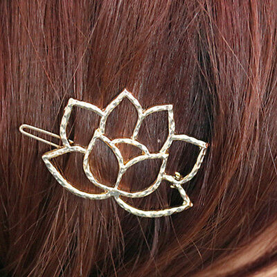 Gold Sliver Colors Hair Jewelry Faux Pearl Flower Barrettes Hair Accessories CB