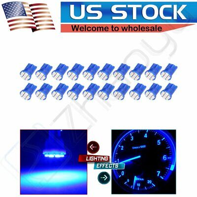 20 X T10 Pure Blue 8-SMD Super Bright LED LIGHT BULBS 194 2825 921 168 175 501