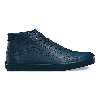 b6dc2a0b93 Brand New VANS LEATHER COURT MID DX Leather Midnight Navy SZ US M 10.5 EUR  44