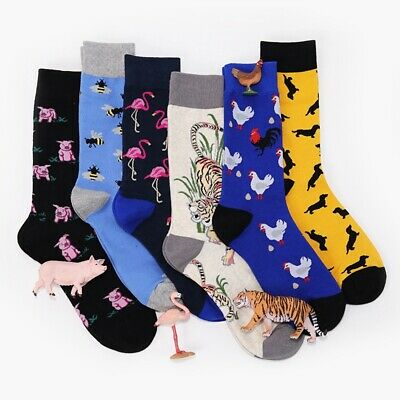 Big Size Novelty Funny Art Combed Cotton Stocking Mens Socks Winter Hosiery