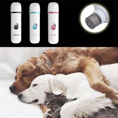 Premium Electric Pet Nail Grinder Paws Grooming Trimmer Dog Cat Pets Clipper uk