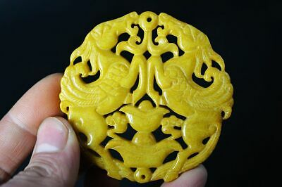 Delicate Chinese Old Jade carved Two-sided *horse* amulet Pendant   H1