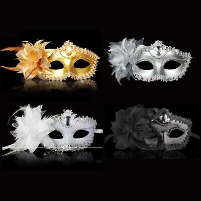 Venetian Masquerade Costume Ball Porm Wedding Party white Silver Mask woman Girl