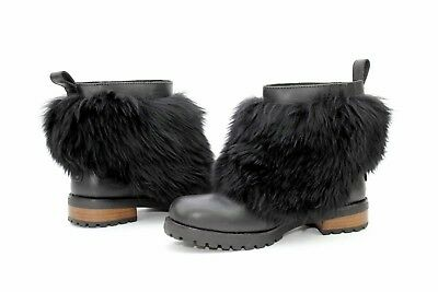 9771ee6f3c69 Ugg Otelia Water Resistant Leather Sheepskin Black Fluffy Boots Size 10 US