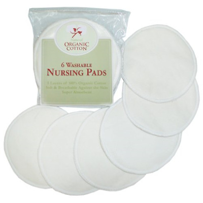 TL Care Nursing Pads made with Organic Cotton, Natural Color, 6 Count