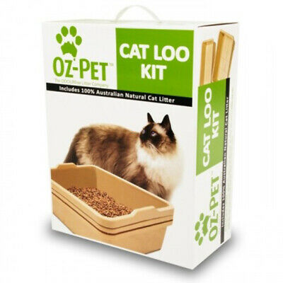 Oz-Pet Eco Friendly Sawdust Cat Loo Kit with Litter and Scoop (CLOPEL)