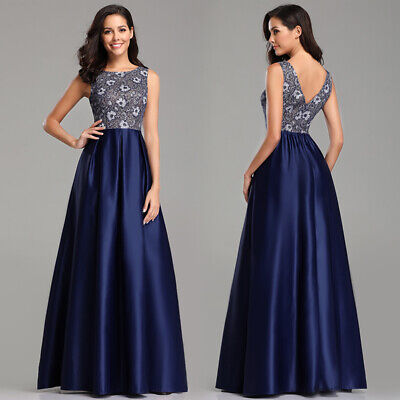 Ever-Pretty Womens A Line Cocktail Party Dress Lace Long Formal Evening Dresses