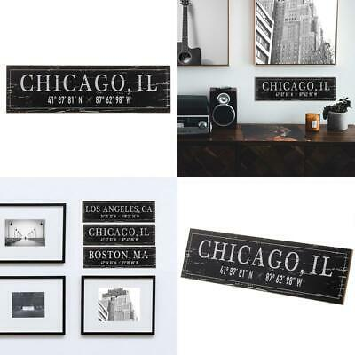 Barnyard Designs Chicago, Il City Sign Rustic Distressed Decorative Wood Wall De