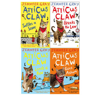 Atticus Claw set 4 book collection Breaks the Law,Settles a Score,Lends a Paw