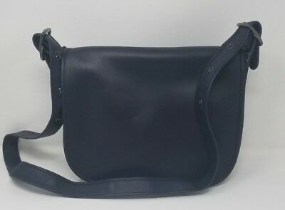 COACH NAVY LEATHER Saddle Bag, Classic! -  21.38   PicClick 02902caf89