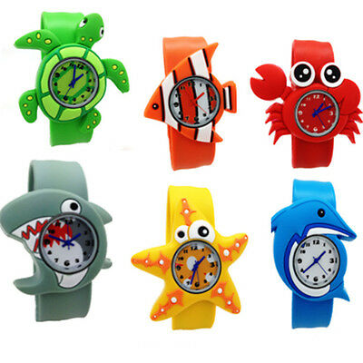 Boys Girls Kids Baby Cartoon Animals Crab Quartz Wrist Watches