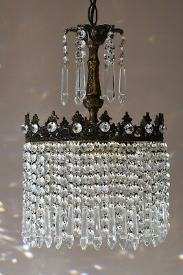 Shabby Chic Antique Vintage Crystal Chandelier, Ceiling Lighting for Home Decor