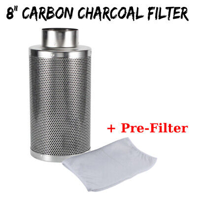 """8"""" Hydroponics Air Carbon Charcoal Filter Odor Control Scrubber Inline Fan OY"""