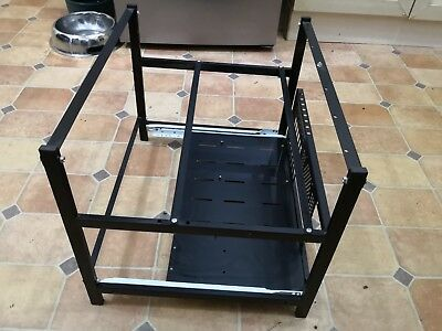 Aluminum Open Air Mining Rig Frame Case Drawer Up to 6 GPU